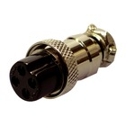 NC-514P 4 PIN MIC (FEMALE) PLUG DELUXE
