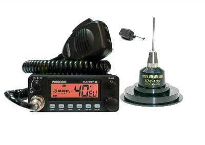 President Harry III Mobile CB Radio Multi-channel 13.8V + KM-100 + SW-725