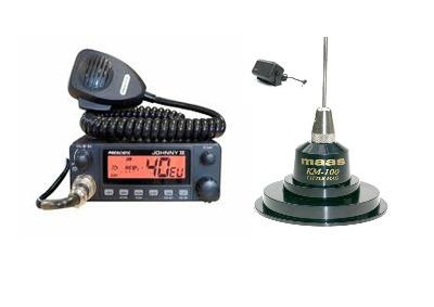 President Johnny III Mobile CB Radio Multi-channel 13.8V + KM-100 + SW-725