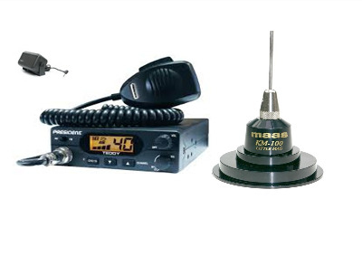President Teddy CB Radio Multi-channel 13.8V + KM-100 + SW-725