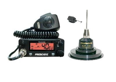 President Truman Mobile CB Radio Multi-channel 13.8V + KM-100 + SW-725