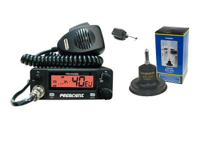 President Truman Mobile CB Radio Multi-channel 13.8V + KM-500 + SW-725