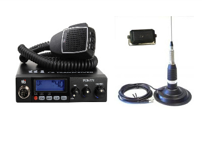 TTI TCB-771 Mobile CB Radio Multi-standard 12/24V + CB-145 + SW-725