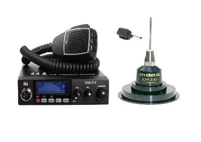 TTI TCB-771 Mobile CB Radio Multi-standard 12/24V + KM-100 + SW-725