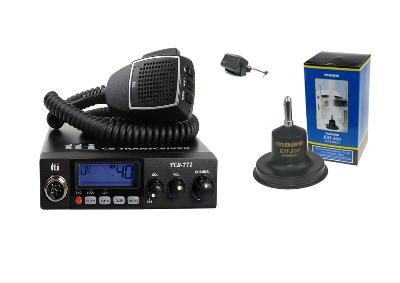 TTI TCB-771 Mobile CB Radio Multi-standard 12/24V + KM-500 + SW-725
