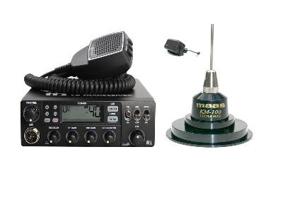 TTI TCB-881 Mobile CB Radio Multi-standard 12/24V + KM-100 + SW-725