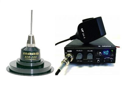 CRT S-MINI CB MULTI-STANDARD MOBILE RADIO PLUS KM100 ANTENNA