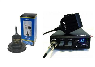 CRT S-MINI CB MULTI-STANDARD MOBILE RADIO PLUS KM500 ANTENNA