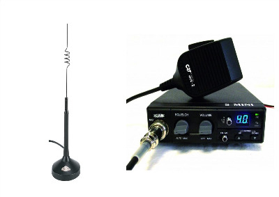 CRT S-MINI CB MULTI-STANDARD MOBILE RADIO PLUS COBRA HG-A-1000 ANTENNA
