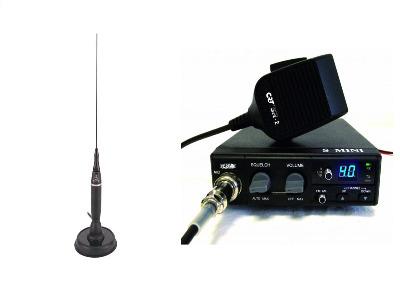CRT S-MINI CB MULTI-STANDARD MOBILE RADIO PLUS COBRA HG-A-1500 ANTENNA