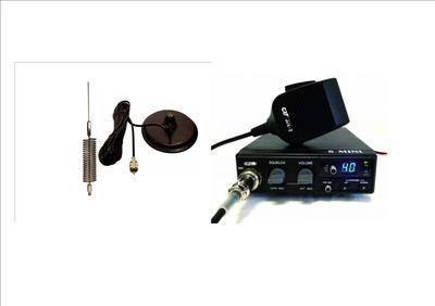 CRT S-MINI CB MULTI-STANDARD MOBILE RADIO INCLUDING CHROME MINI-SPRINGER AN