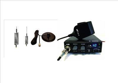 CRT S-MINI CB MULTI-STANDARD MOBILE RADIO INCLUDING BLACK MINI-SPRINGER ANT