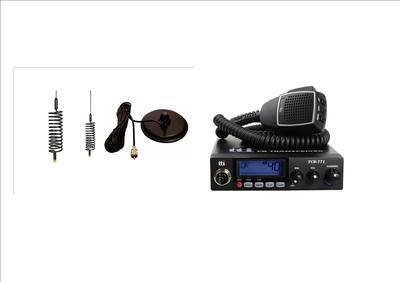 TTI TCB-771 Mobile CB Radio Multi-standard 12/24V INCLUDING BLACK MINI-SPRI