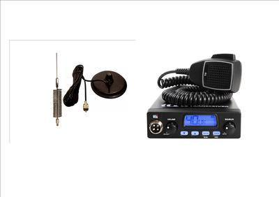 TTI TCB550 Mobile CB Radio Multi-standard 12V INCLUDING CHROME MINI-SPRINGE