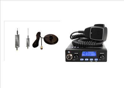 TTI TCB550 Mobile CB Radio Multi-standard 12V INCLUDING BLACK MINI-SPRINGER