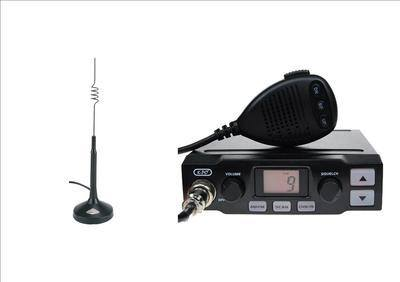 K-PO K-500 CB MOBILE RADIO INCLUDING COBRA HG-A-1000 ANTENNA