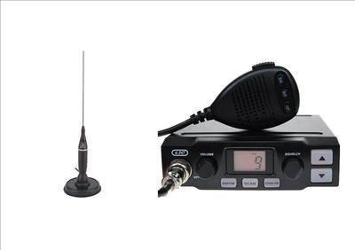 K-PO K-500 CB MOBILE RADIO INCLUDING COBRA HG-A-1500 ANTENNA