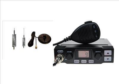 K-PO K-500 CB MOBILE RADIO INCLUDING BLACK MINI-SPRINGER AND MAG-MOUNT