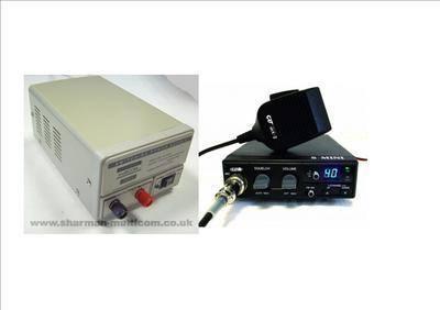 CRT S-MINI CB MULTI-STANDARD MOBILE RADIO INCLUDING SM-3 13.8V POWER SUPPLY