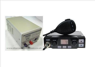 K-PO K-500 CB MOBILE RADIO INCLUDING SM-3 13.8V POWER SUPPLY