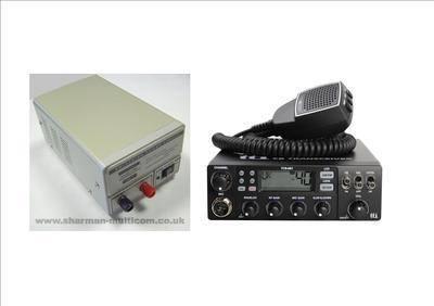 TTI TCB-881 Mobile CB Radio Multi-standard 12/24V INCLUDING SM-5 13.8V POWE