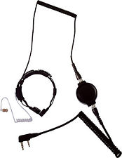 LGR-32SS ACOUSTIC TUBE EARPIECE THROAT MIC WITH HEAVY DUTY PTT (ICOM/TTI)