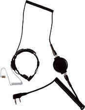 LGR-32M ACOUSTIC TUBE EARPHONE THROAT MIC W/HEAVY DUTY PTT