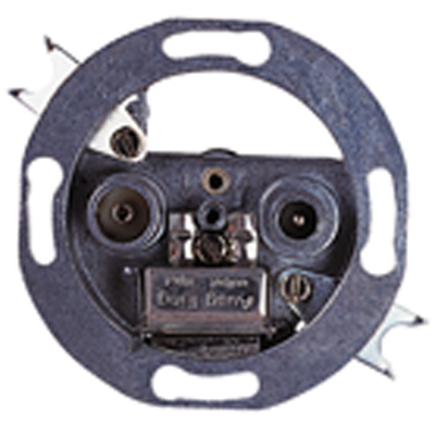 TV and FM Coaxial Wall Outlet