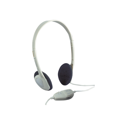 Switched Lightweight Mono/Stereo Headphones with Volume Control