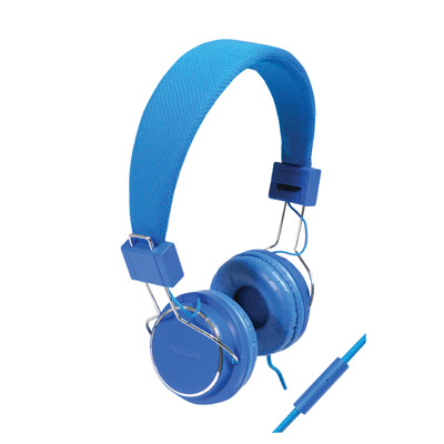 Solid Colour Smartphone Stereo Headphones with Microphone