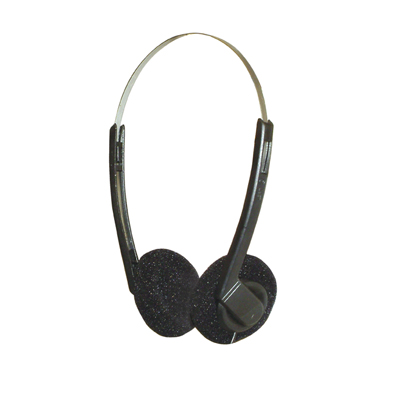 Lightweight Stereo Headphones With Black Pads