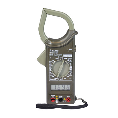 Compact Handheld Digital Clamp Meter with Carry Case