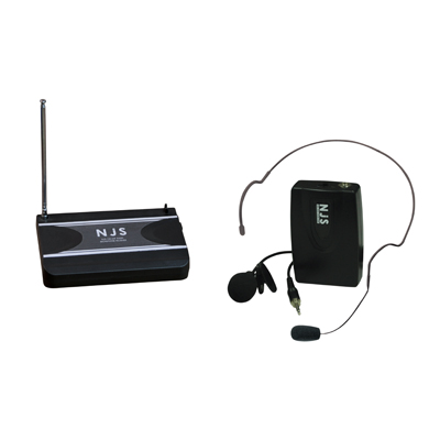 New Jersey Sound Corp 174.5 MHz VHF Head Band Radio Microphone System