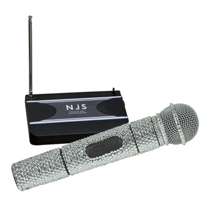 NJS VHF Handheld Radio Microphone System With Crystal Effect