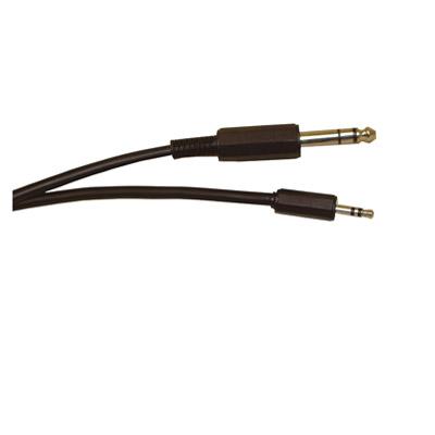 Standard 6.35 mm Stereo Jack Plug to 3.5 mm Stereo Jack Plug Screened Lead