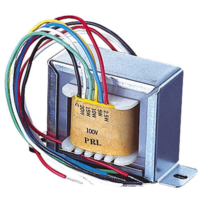 100V Line Transformer With 1.9, 3.75, 7.5, 15, 30W Tapings