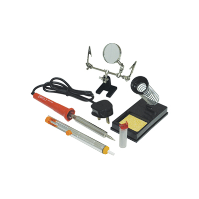Eagle 30W Mains Powered Soldering Iron Kit Including Stand, Helping Hands a