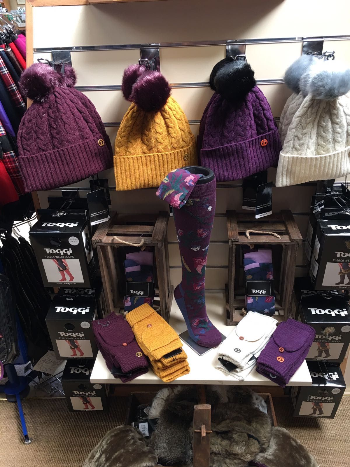 hats and socks at Riseholme Feeds
