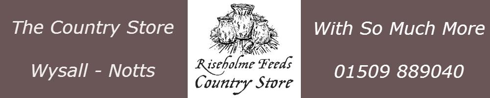 Riseholme Feeds Country Store, site logo.