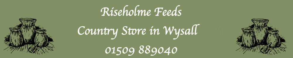 Riseholme Feeds Country Store, site logo.