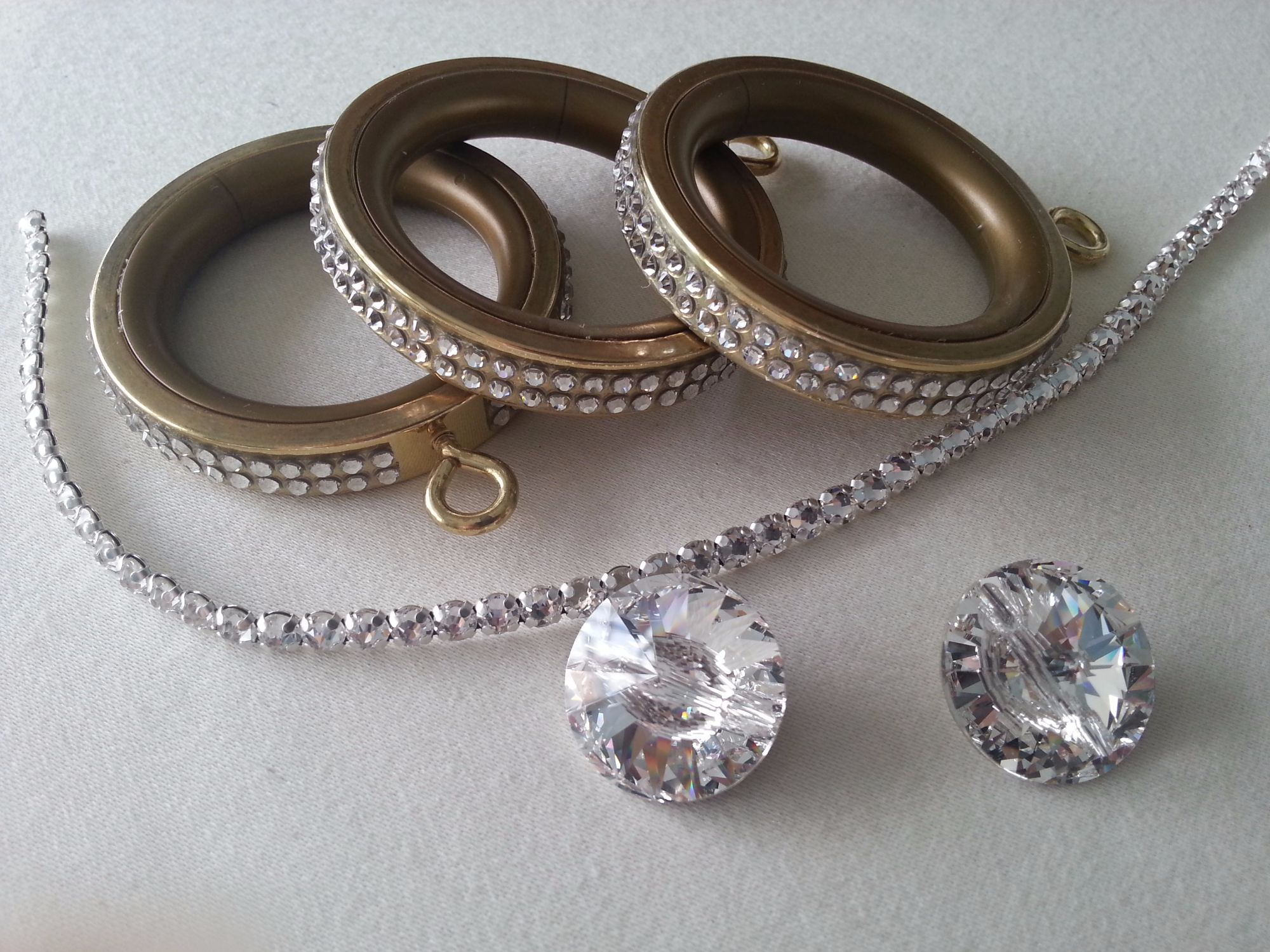Crystal rings and trim