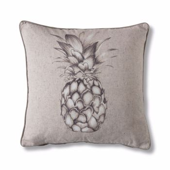 Natural Light Linen Pineapple Cushion SALE