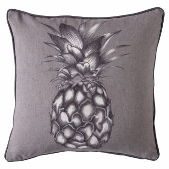Monochrome Linen Pineapple Cushion SALE