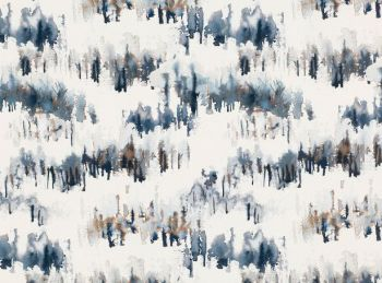 Villa Nova Fabrics & Wallcoverings - Norrland Indigo Fabric SAMPLE ONLY