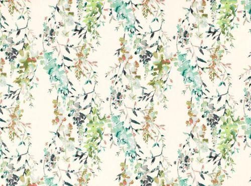 Villa Nova Fabrics & Wallcoverings - Hana Eden Printed cotton slub Fabric
