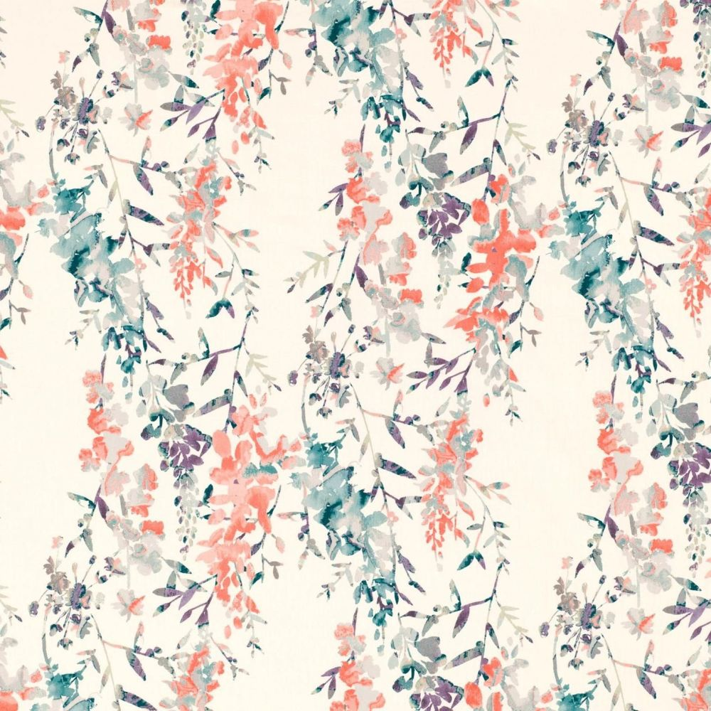 Villa Nova Fabrics & Wallcoverings - Hana Oasis Printed cotton slub Fabric