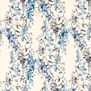 Villa Nova Fabrics & Wallcoverings - Hana Indigo SAMPLE ONLY