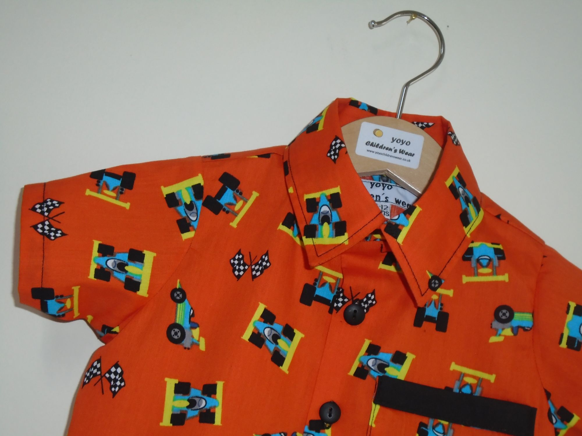 ORANGE RACING CAR SHIRT
