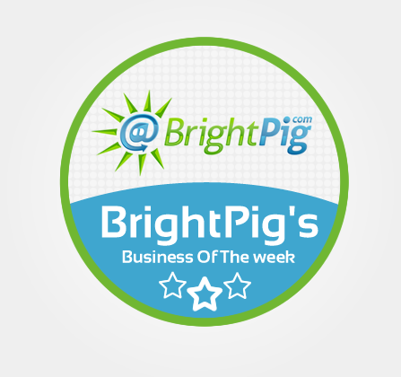 brightpigs business of the week badge
