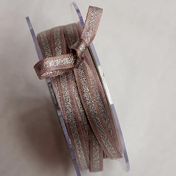 Rose pink & Silver ribbon